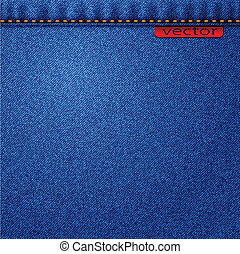 jeans - Illustration of jeans fabric texture Vector