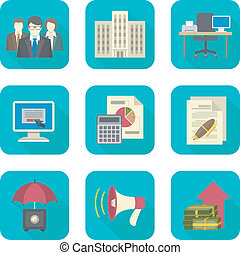 Business Costs Icons - Set of modern flat icons suitable for...
