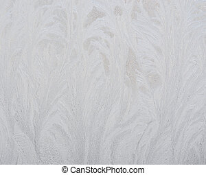 Frosty pattern on glass winter window - This is snow frosty...