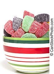 Holiday gumdrop candies