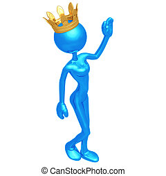 Queen Waving - 3D Concept And Presentation Figure