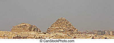 Pyramids In The Desert Of Egypt Giza