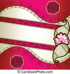 Pink Indian mehndi inspired banner