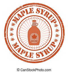 Maple syrup stamp - Maple syrup grunge rubber stamp on...