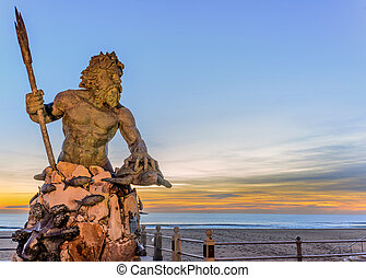 King Neptune at Neptune Park, Virginia Beach - Statue of...