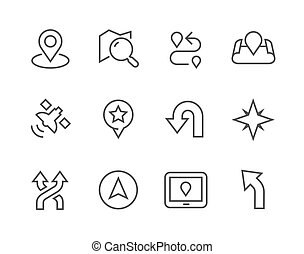 Thinline Navigation Icons - Simple Icons related to...