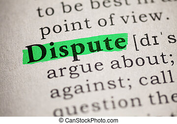 dispute - Fake Dictionary, definition of the word dispute