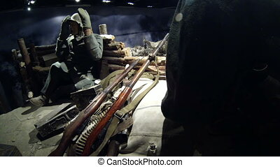 Reconstruction of the military fight the Germans and the...
