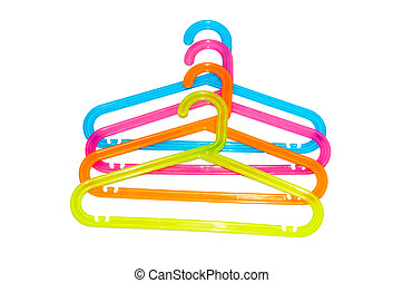 clothes hanger isolation of a white background