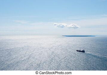 A ship on the Baltic Sea - A ship sailing on the Baltic Sea...