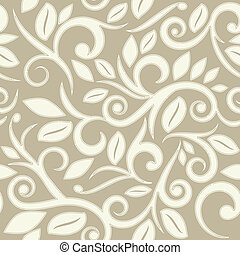 beige tan or cream floral seamless pattern with dots square...