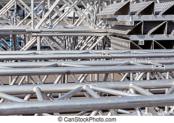 Truss backstage structure - Set of metal trusses and...