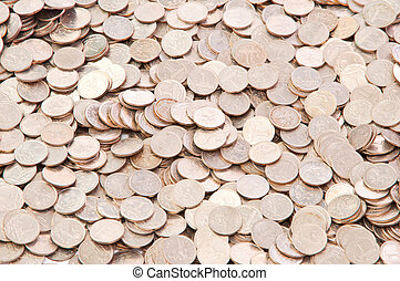 coin background - background of a penny coin Russia