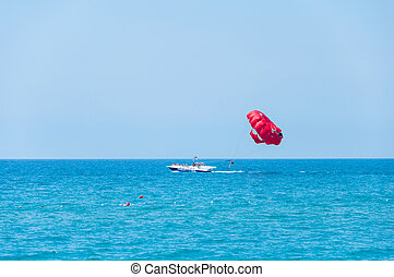 parasailing - a tourist attraction