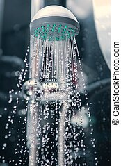 Shower in a bathroom - The adaptation for washing in a...