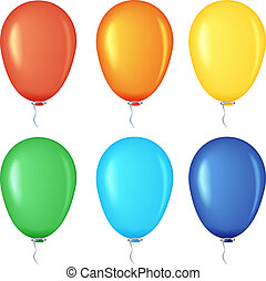 Set of colored balloons.