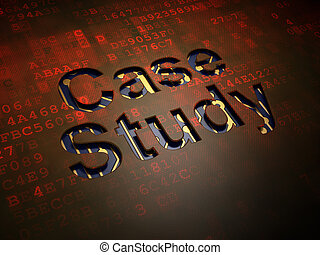 Education concept: Case Study on digital screen background