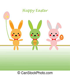 Happy Easter - Background of Happy Easter greeting card