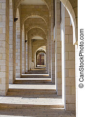 Colonnade in Jerusalem. - Beautiful photo colonnade in...