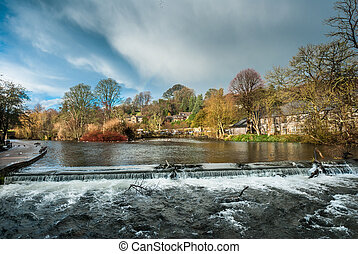 Bakewell Waterfall - Rough, fast flowing high water on the...