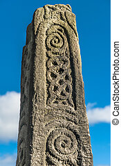 Saxon Stone Cross - Anglo-Saxon stone monument in Bakewell...