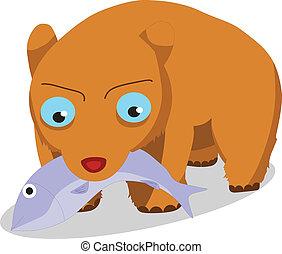Bears eat fish