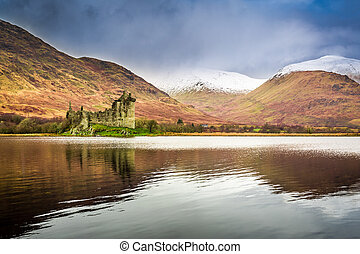 Kilchurn Castle in Winter, Scotland