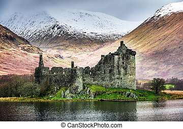 Kilchurn Castle in Winter