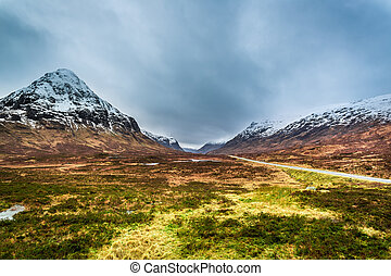Beautiful view of the mountains in Scotland