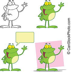 Frog Waving A Greeting Collection