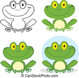 Small Smiling Frog Set Collection