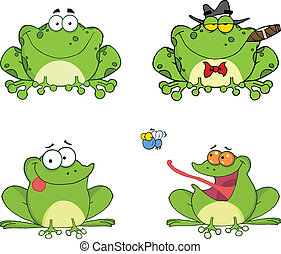 Happy Frogs 2 Set Collection - Happy Frogs Cartoon...