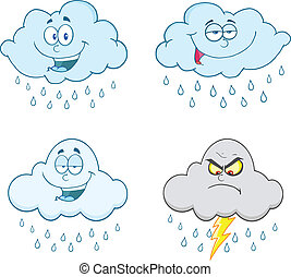 Raining Clouds Set Collection - Raining Clouds Cartoon...