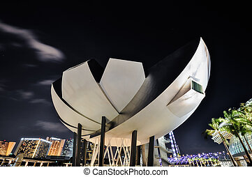 Singapore The Marina Bay Sands Museum - Singapore, Singapore...