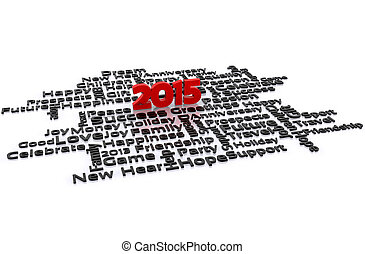 New year - 3D illustration - a wish for the new year, 2015