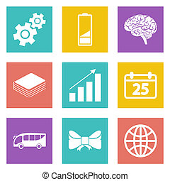Icons for Web Design and Mobile Applications set 5. Vector...