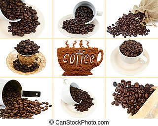 grain coffee - photo of the roasted grain coffee background