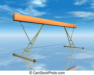 Balance Beam - Computer generated 3D illustration with a...