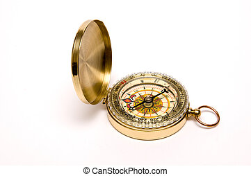 Compass  - Modern compass with cover and ring