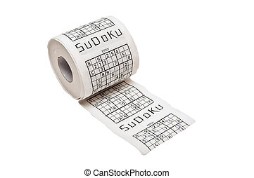 toilet-paper - toilet paper roll with Sudoku