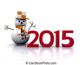 nuevo, año, 2015