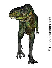 Dinosaur Aucasaurus - 3D digital render of a walking...