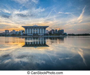 The Iron Mosque, Malaysia - The Iron Mosque at dawn,...