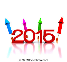 new 2015 - 3D illustration - comes the new year with...