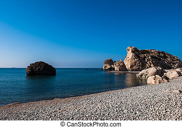 Aphrodite's Rock - Bay on the island of Cyprus with the...