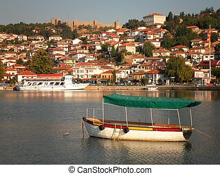 Ohrid Old Town - A view of the old town of Ohrid, Macedonia.