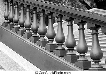 balustrade monochrome