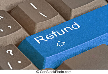 keyboard with hot key for refund