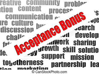 Acceptance bonus word cloud