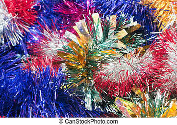 Christmas tinsel background - background color of the...